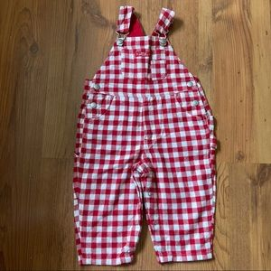 Vintage Gap Checkered red/white 12-18m overalls